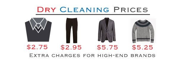 prices for dry cleaning